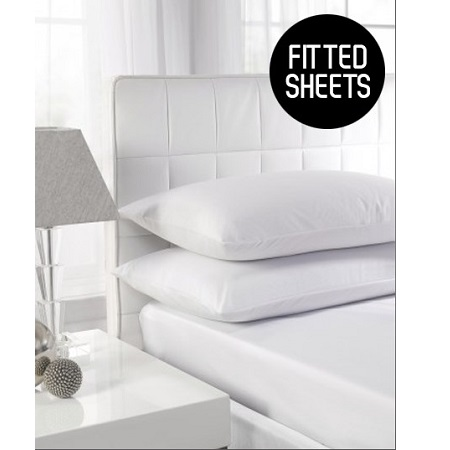 200 TC Extra Deep Double Fitted Sheets (Up to 16'') 100% Cotton