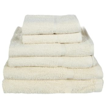 450 GSM Budget Range Cream Bath Towel | LA Towels