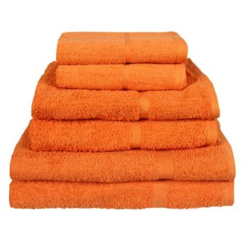 450 GSM Budget Range Orange Bath Towels