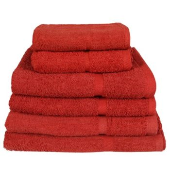 450 GSM Red Hand Towels