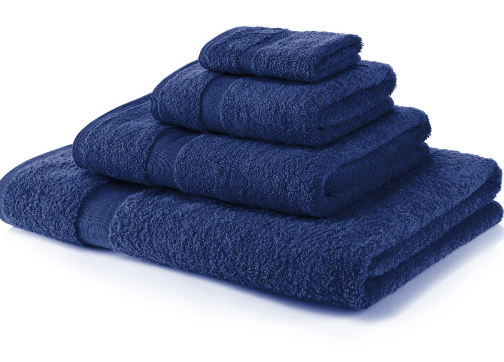 600 Gsm Royal Egyptian Collection Navy Blue Hand Towels