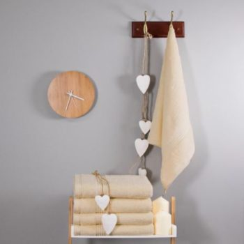 700 GSM Cream Bamboo Hand Towel