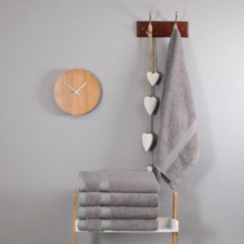 700 GSM Light Grey Bamboo Hand Towel