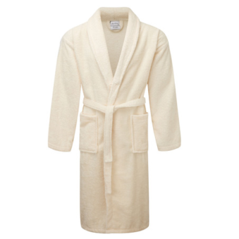Egyptian Collection Hooded Luxury Towelling Cream Dressing Gown