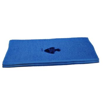 Fish Embroidered Blue Bath Towels – Value Range