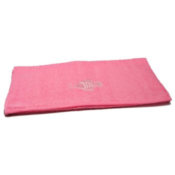 Fish Embroidered Pink Bath Towels – Value Range