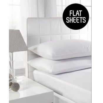 180 TC Easy Iron Percale Single Flat Sheets